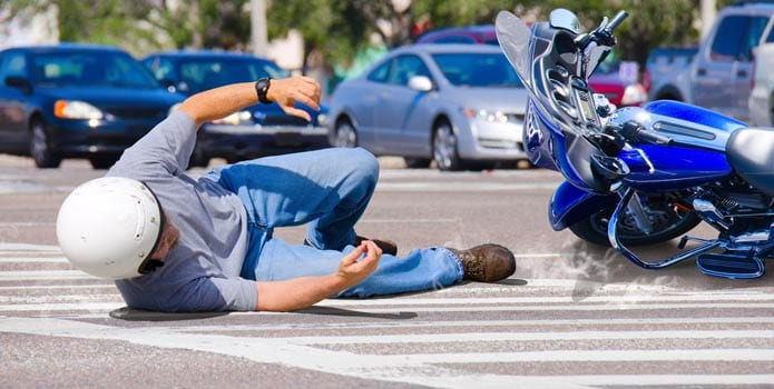 Motorcycle Accident on Crosswalk