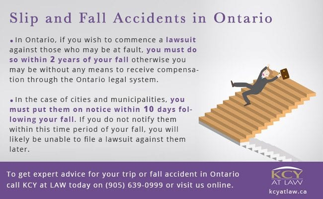 Slip and Fall Accidents Ontario - KCY at LAW - Personal Injury Lawyers Horizontal