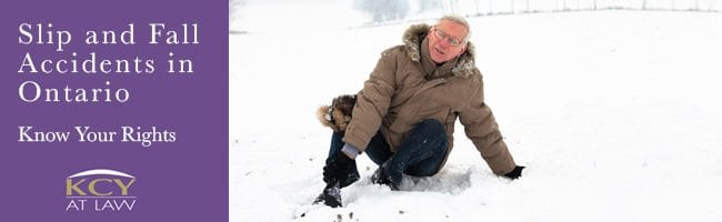 Slip and Fall Accidents in Ontario - KCY at LAW - Personal Injury Lawyers