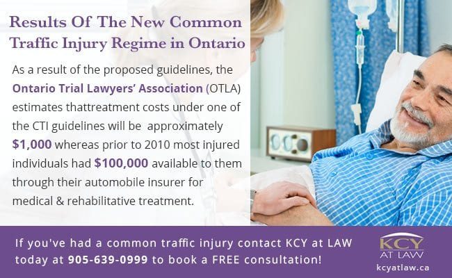 Changes To Common Traffic Injuries Regime Ontario - KCY at LAW Personal Injury Lawyers