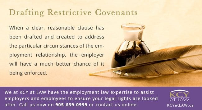 Drafting Restrictive Covenants - Employment Law Advice - KCY at LAW