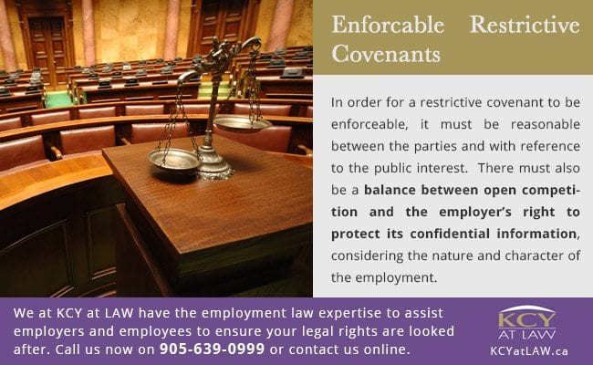 Enforcable Restrictive Covenants - Employment Lawyers - KCY at LAW