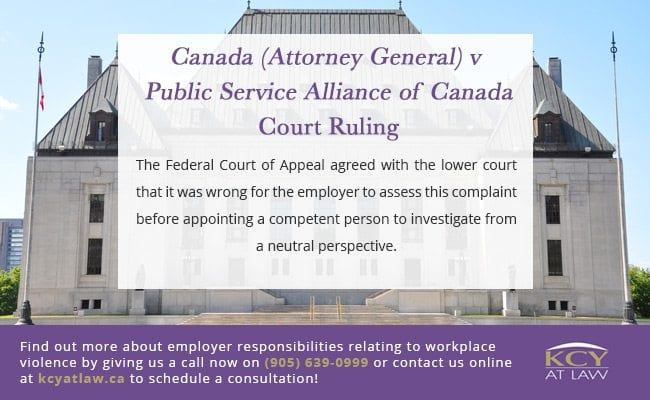 Canada (Attorney General) v Public Service Alliance of Canada - Workplace Violence Ruling