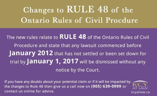 Changes to Rule 48 of the Ontario Rules of Civil Procedure