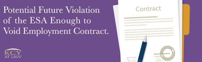 Employment Contract - Violation of ESA
