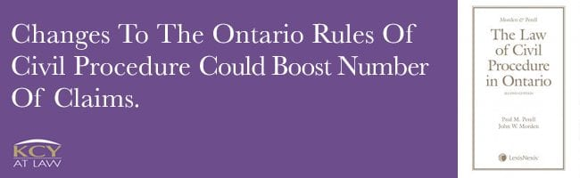 Ontario Rules Of Civil Procedure - Change to Rule 48