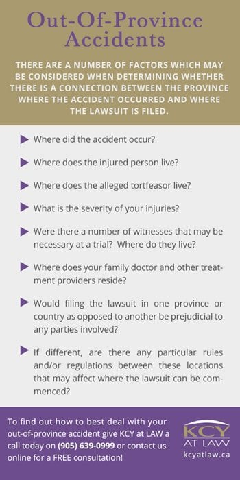 Personal Injury Lawyer Canada - Out of Province Accidents
