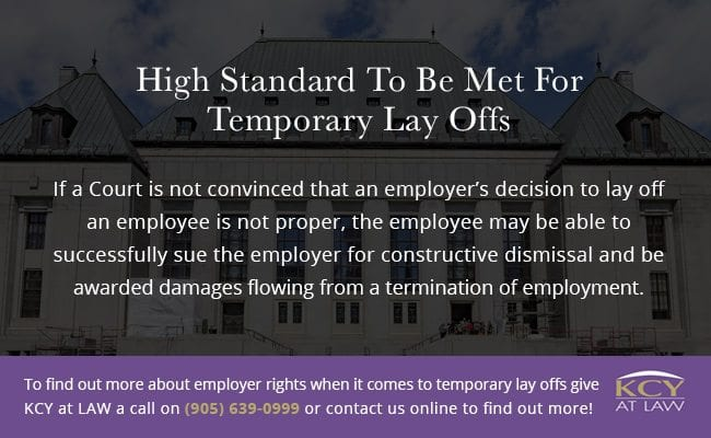 Standard to be met for temporary layoffs - KCY at LAW
