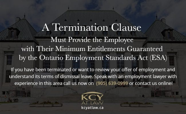 A Termination Clause Must Provide Entitlements
