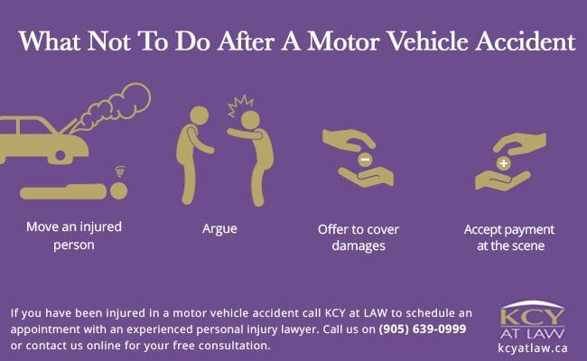What Not To Do After A Motor Vehicle Accident - KCY at LAW - Personal Injury Lawyers