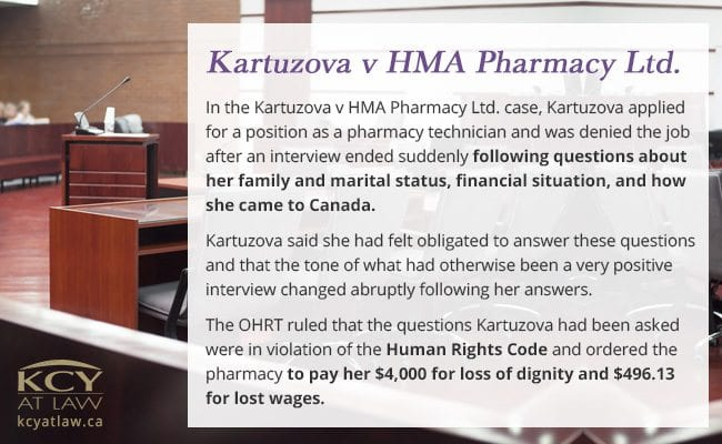 Kartuzova v HMA Pharmacy Ltd - Employment Lawyer KCY at LAW