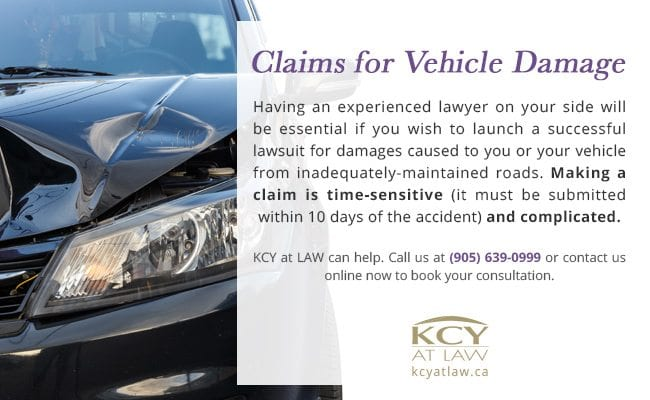 Claims for Vehicle Damage - Winter Road Maintenance Claim