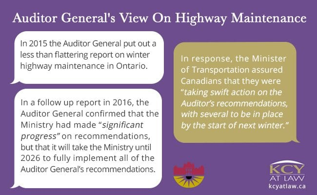 Winter Road Maintenance - Auditor General View on Canadian Roads