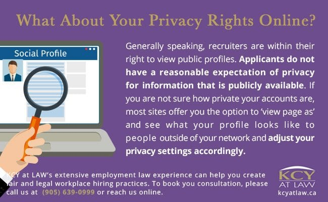 Privacy Rights Online - Recruiters Using Social Media - KCY at LAW