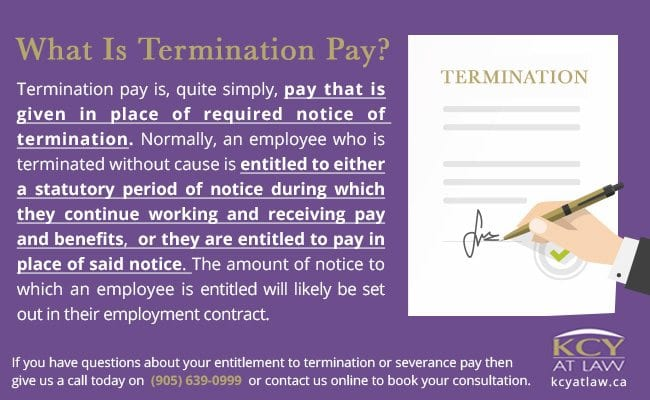 What is termination pay - Employment Lawyers