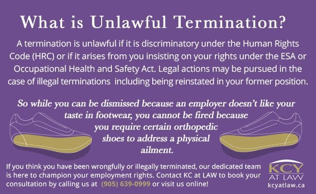 What is unlawful termination - Employment Lawyer - KCY at LAW