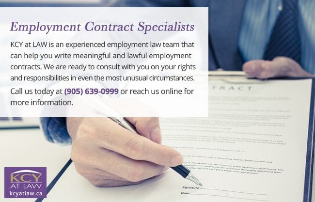 Employment Contract Specialists - Employment Lawyer Burlington