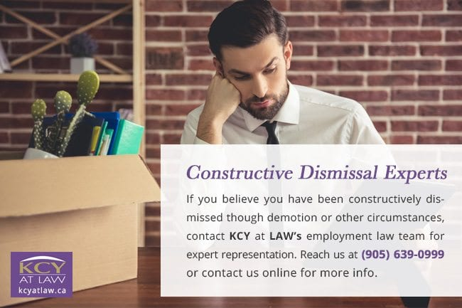 Constructive Dismissal Experts - Employment Lawyer Burlington - KCY at LAW