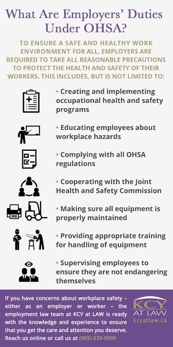 Occupational Health and Safety Act - Employers Duties OHSA