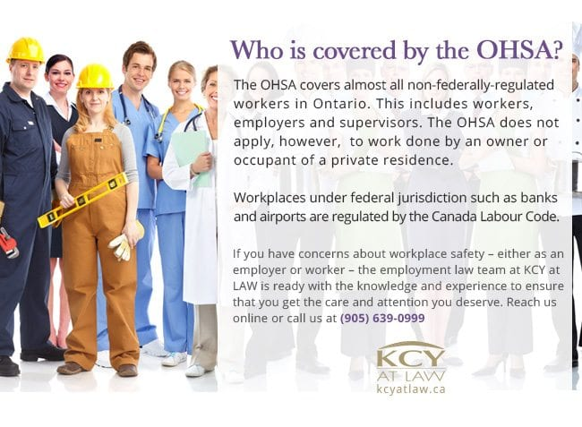 Who Is Covered by OHSA - Employment Lawyer - KCY at LAW
