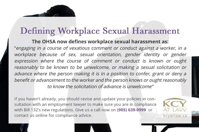 Defining Workplace Sexual Harassment - Bill 132 Information - KCY at LAW