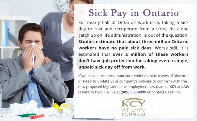 Sick Pay in Ontario - KCY at LAW