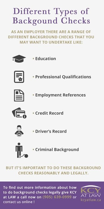 Different Types of Employee Background Checks Canada - KCY at LAW