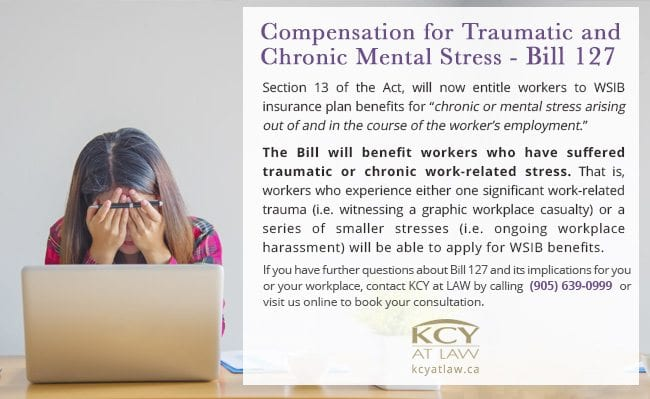 Compensation for Mental Stress - Bill 127 - Employment Law