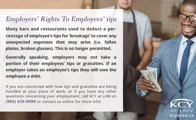 Laws About Tips in Canada - KCY at LAW