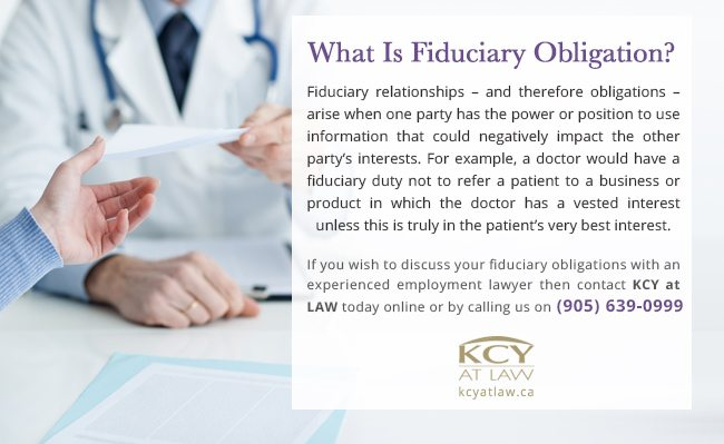 What is Fiduciary Obligation
