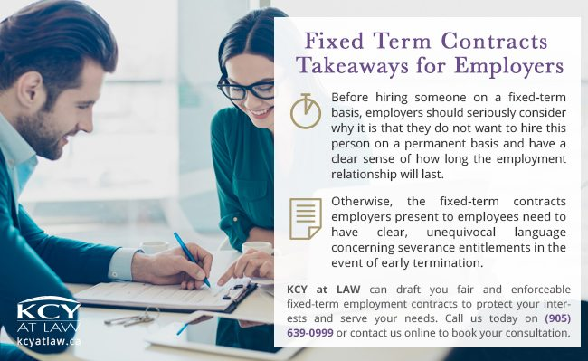Fixed Term Contracts | KCY at LAW - Employment Lawyer
