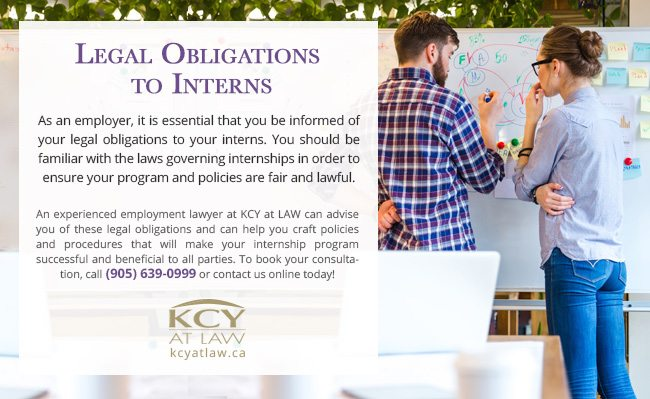 Legal Obligations to Interns