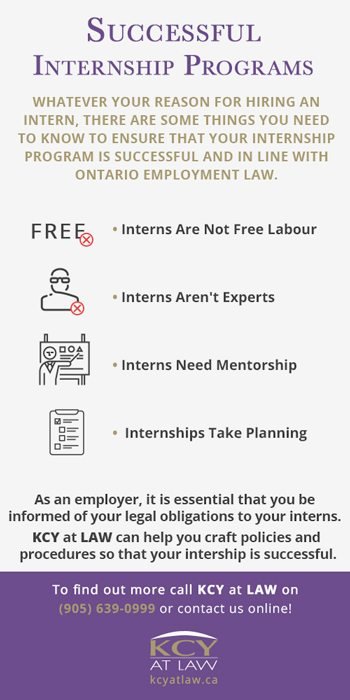 Successful Internship Programs - KCY at LAW Employment Lawyers