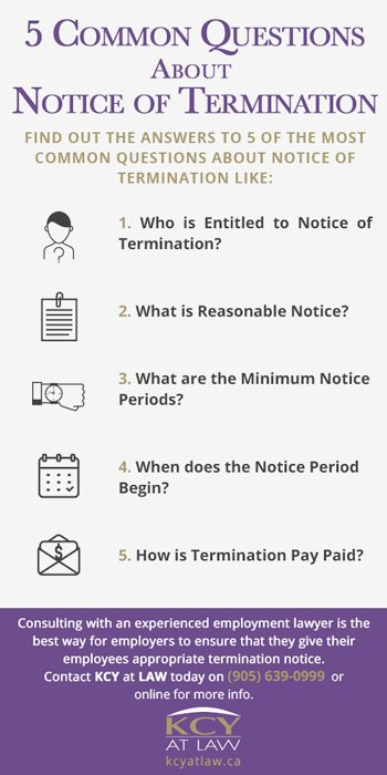 Common Questions About Notice of Termination Ontario - KCY at LAW