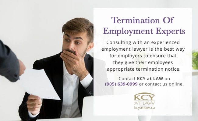Termination of Employment Lawyers - KCY at LAW Burlington