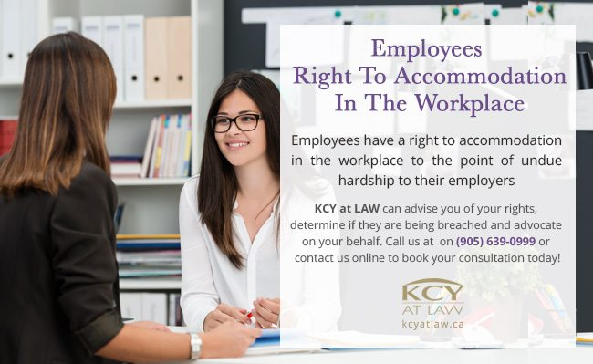 Employees Right to Accommodation in the Workplace - KCY at LAW