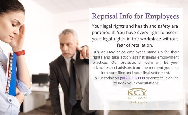 Reprisal Info for Employees - KCY at LAW Employment Lawyers
